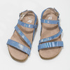 Dievčenské sandále s holografickými remienkami mini-b, modrá, 466-1609 - 16