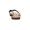 Čierne kožené dámske žabky bata, čierna, 566-6645 - 15