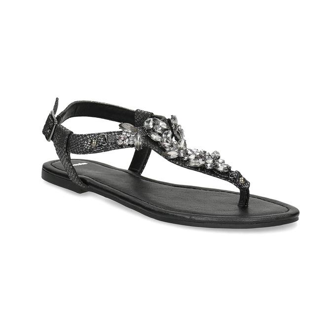 64dea9e563d0 Baťa Čierne dámske sandále s kamienkami - Slavnostné príležitosti ...