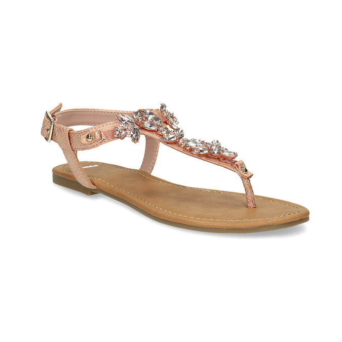 d250cdff7a5a5 Dámske sandále s kamienkami bata, ružová, 561-5612 - 13
