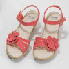 Sandále na stabilnom podpätku s kvetinami comfit, červená, 661-5613 - 16