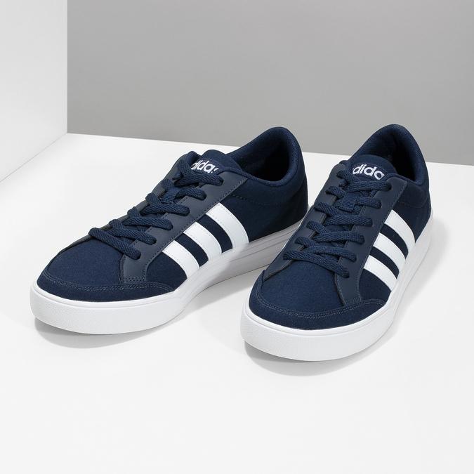 Modré pánske textilné tenisky adidas, modrá, 889-9235 - 16