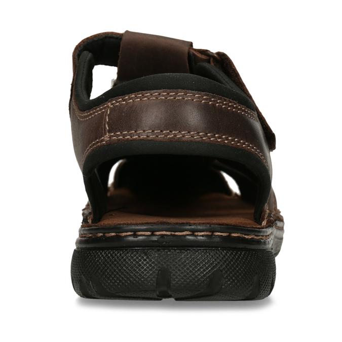 Kožené sandále so zavretou špičkou bata, hnedá, 866-4616 - 15
