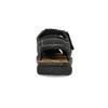 Pánske čierne kožené sandále s plnou špičkou bata, čierna, 866-6616 - 15
