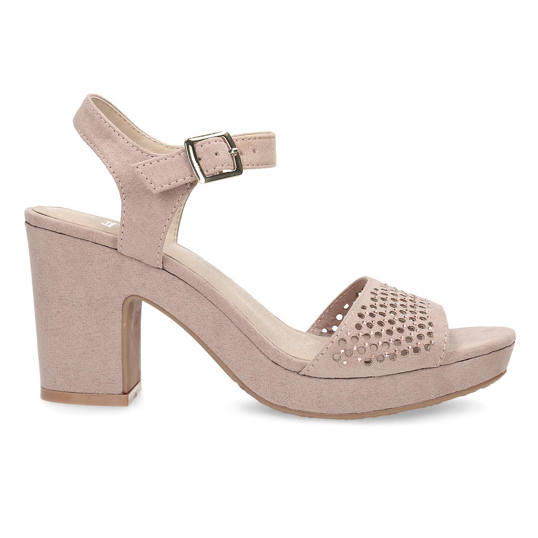 64f6da0cb689a ... Sandále na masívnom podpätku s kamienkami insolia, ružová, 669-8624 -  19 ...
