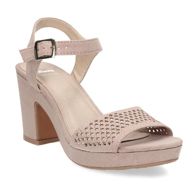 8d1af2412731 Insolia Sandále na masívnom podpätku s kamienkami - Ženy