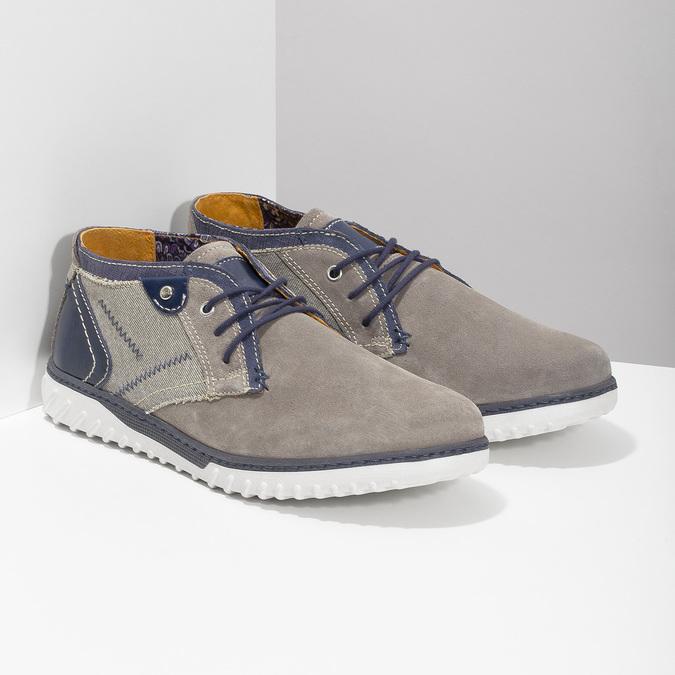 Členková pánska obuv bata, šedá, 843-2633 - 26