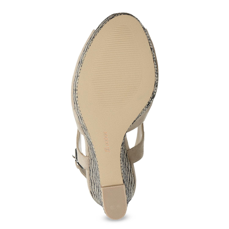 e49ebcb042ad Insolia Dámske béžové sandále na kline so vzorom - Ženy