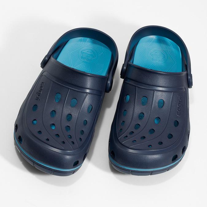 Modré detské sandále typu Clogs coqui, modrá, 372-9656 - 16