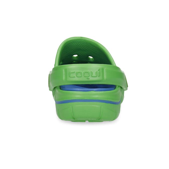 Zelené detské sandále typu Clogs coqui, zelená, 372-7656 - 15