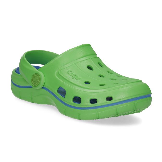 Zelené detské sandále typu Clogs coqui, zelená, 372-7656 - 13