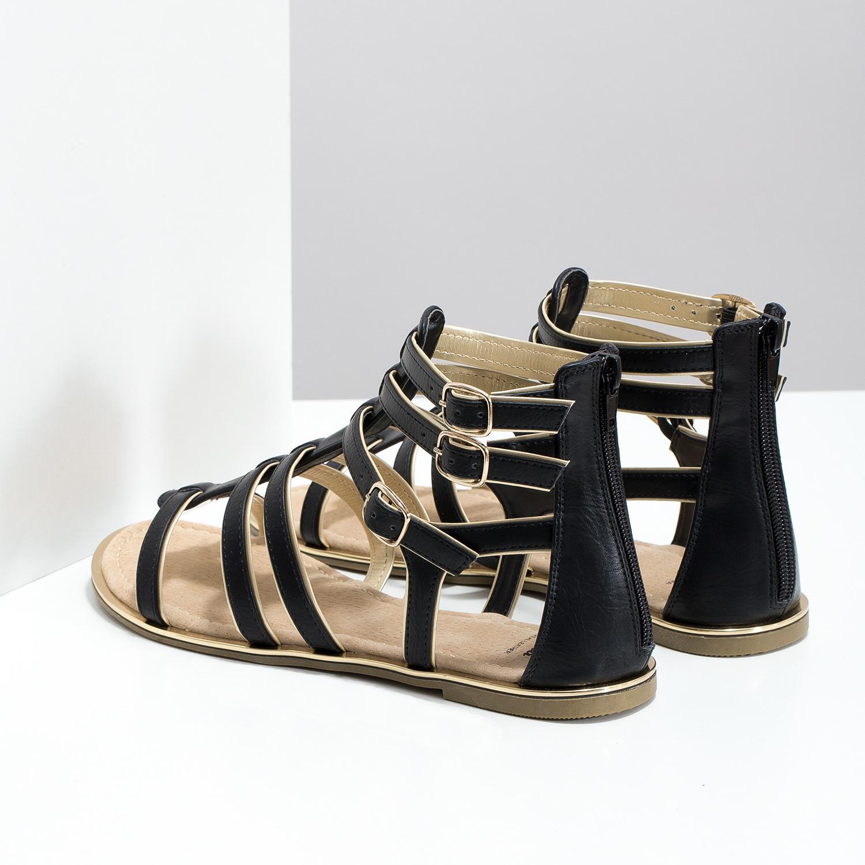 cc2672c875f95 ... Dámske čierno-zlaté sandále bata, čierna, 561-6620 - 16 ...