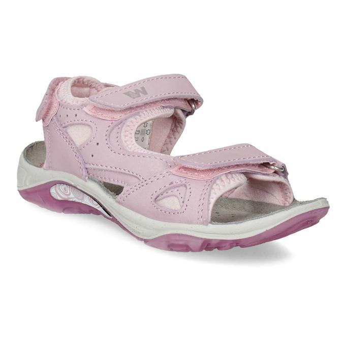 Dievčenské kožené sandále v Outdoor štýle weinbrenner, ružová, 366-5606 - 13