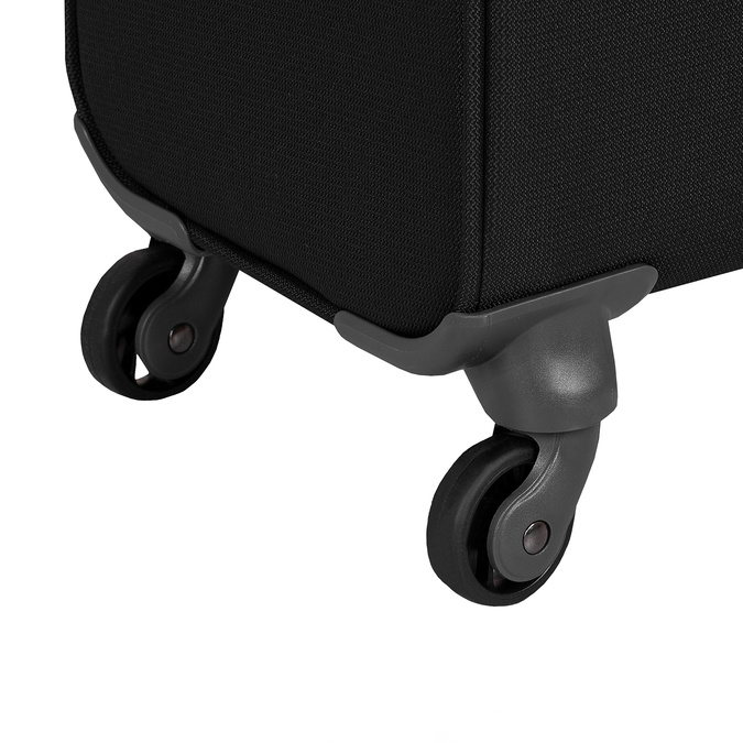 Čierny textilný kufor samsonite, čierna, 960-6039 - 16