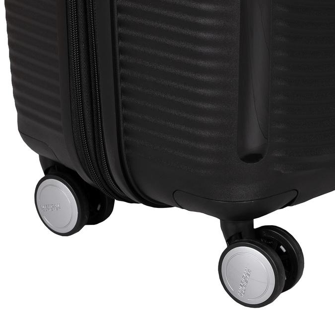 Čierny kufor s pevným obalom na kolieskach american-tourister, čierna, 960-6613 - 16