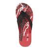 Pánske čierno-červené žabky pata-pata, červená, 879-9617 - 17
