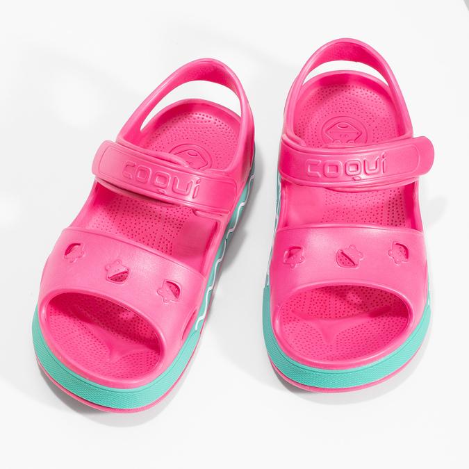 Detské ružové sandále dievčenské coqui, ružová, 372-5658 - 16