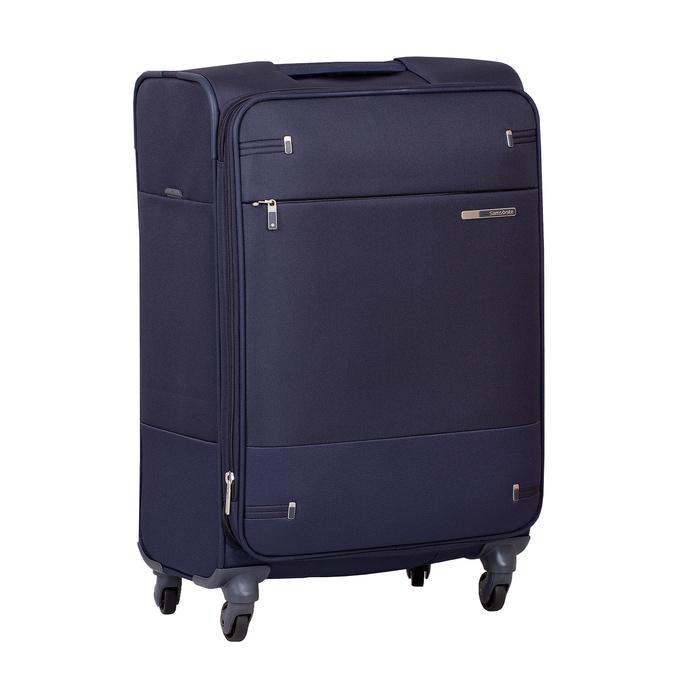 Tmavomodrý menší textilný kufor na kolieskach samsonite, modrá, 960-9040 - 13
