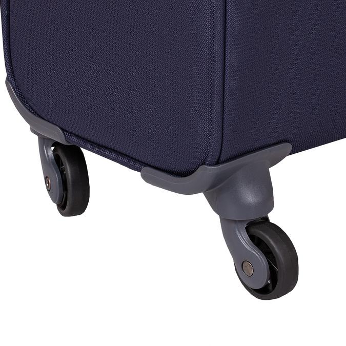 Tmavomodrý menší textilný kufor na kolieskach samsonite, modrá, 960-9040 - 16