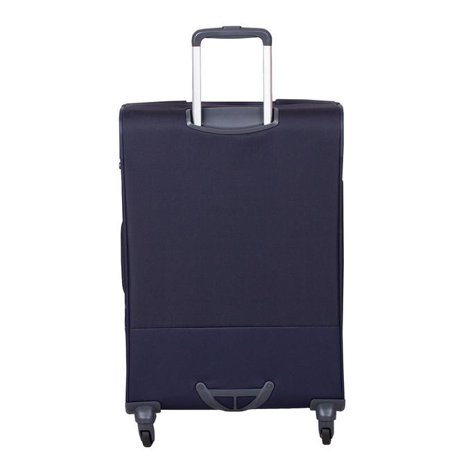 Tmavomodrý väčší textilný kufor na kolieskach samsonite, modrá, 960-9042 - 26