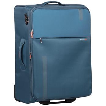 Veľký tyrkysový textilný kufor na kolieskach roncato, modrá, 969-9719 - 13