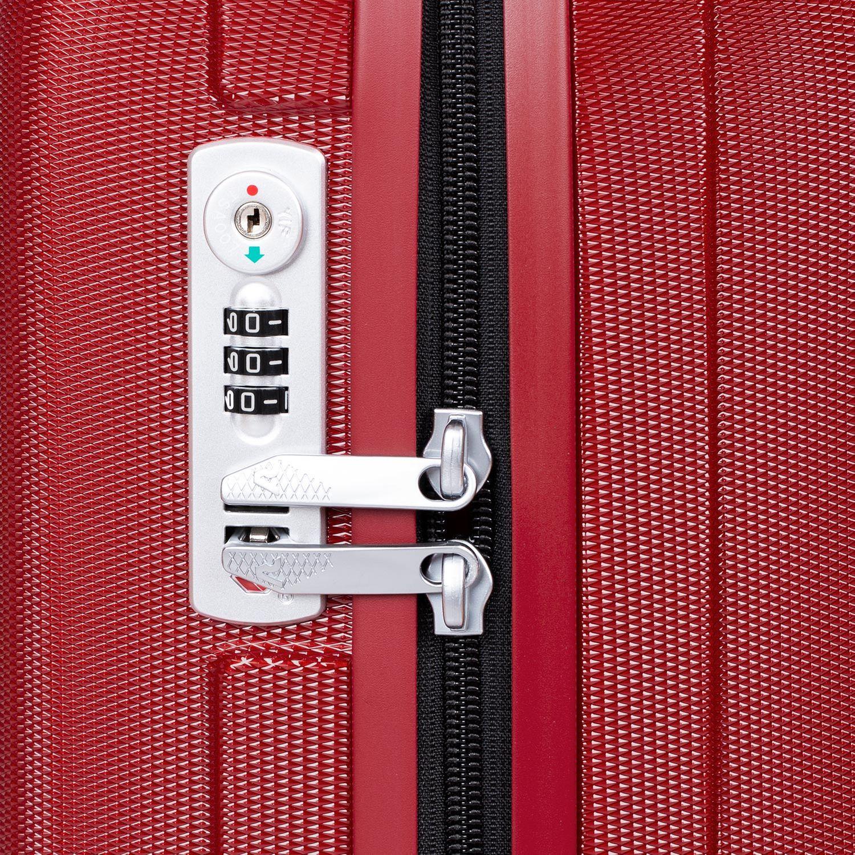 ecb112701 ... Malý červený škrupinkový kufor na kolieskach roncato, červená, 960-5738  - 15 ...