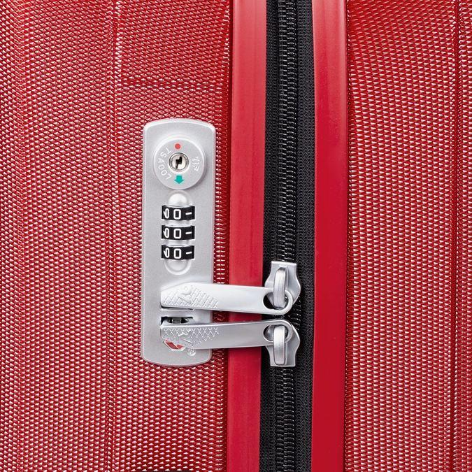 Veľký červený škrupinkový kufor na kolieskach roncato, červená, 960-5736 - 15