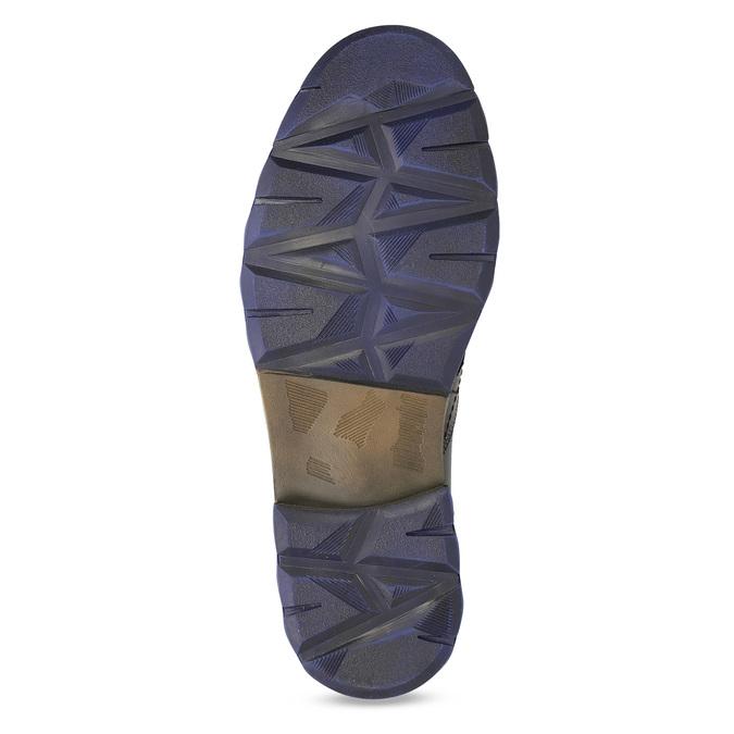 Pánska kožená členková obuv so zipsom bata, šedá, 896-2678 - 18