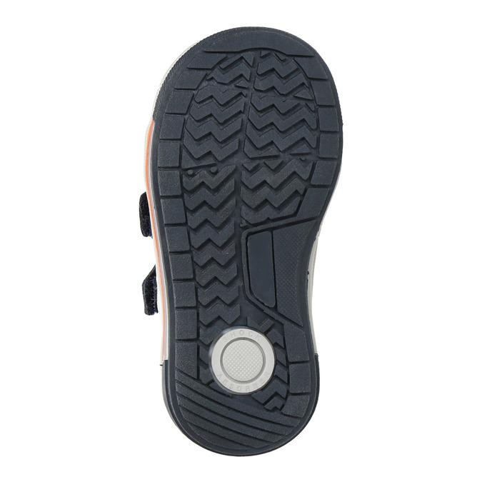 Detské kožené topánky na suchý zips bubblegummers, modrá, 116-9600 - 18