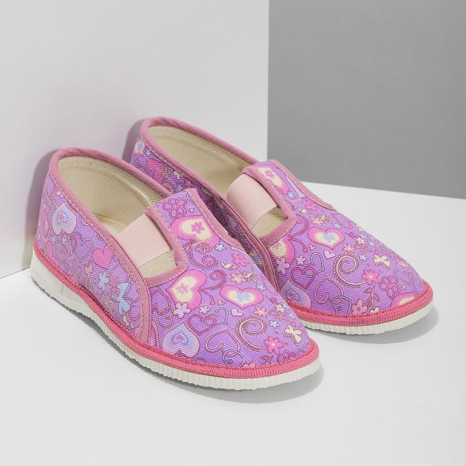 Ružové detské prezuvky so vzorom bata, ružová, 279-5129 - 26