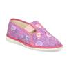 Detské ružové prezuvky so vzorom bata, ružová, 379-5218 - 13
