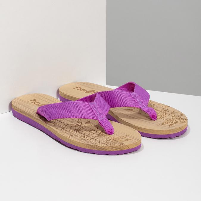 Dámske fialové žabky pata-pata, fialová, 579-5630 - 26