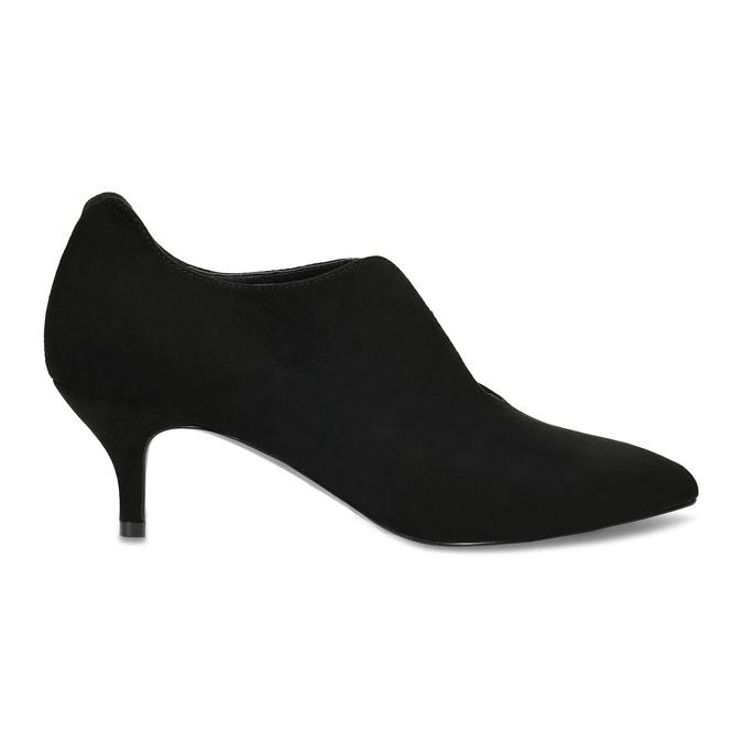 Čierne dámske lodičky s vykrojením insolia, čierna, 629-6648 - 19