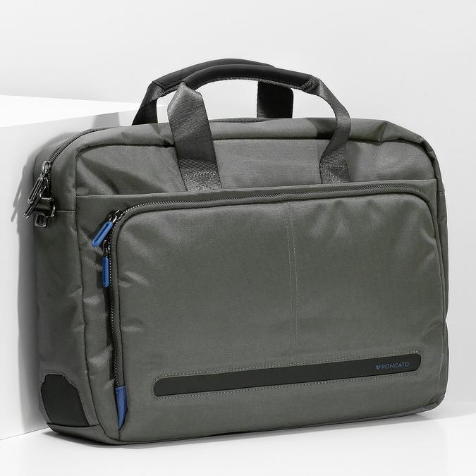 Šedá pracovná taška na notebook roncato, šedá, 969-2739 - 17