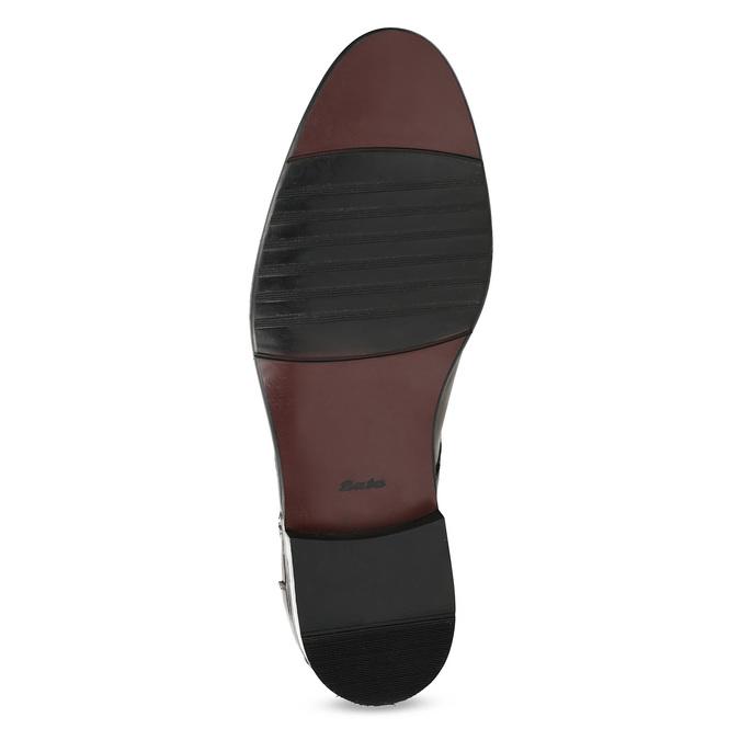 Pánske kožené hnedé Derby poltopánky bata, hnedá, 826-3782 - 18