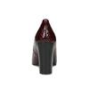 Vínové lodičky s remienkom a štruktúrou insolia, červená, 721-5630 - 15
