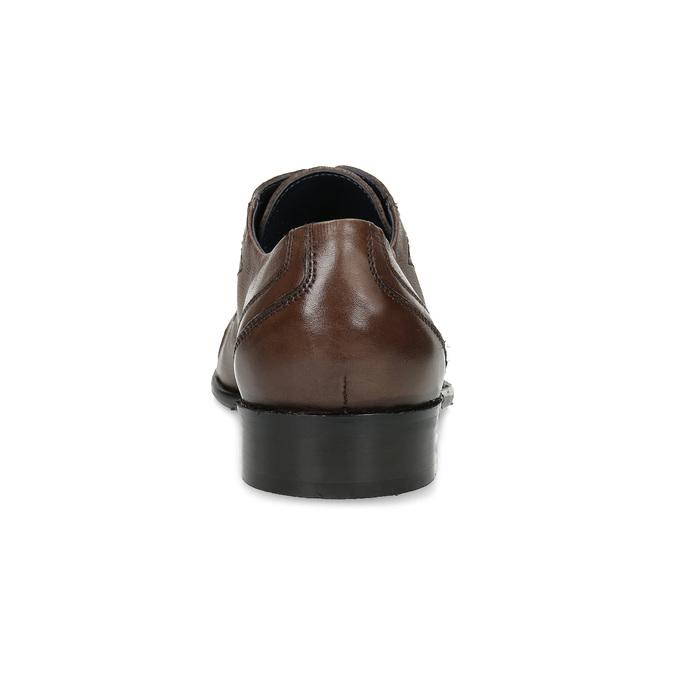 Pánske kožené hnedé Derby poltopánky bata, hnedá, 826-3782 - 15