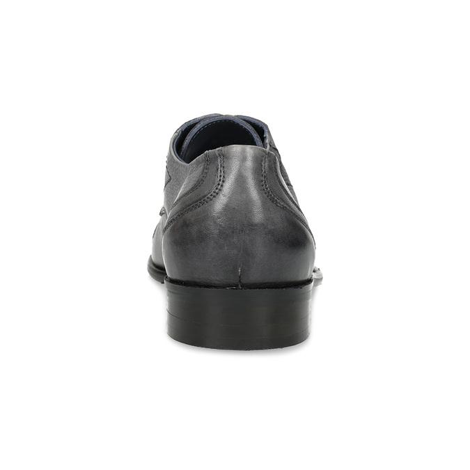 Kožené šedé pánske Derby poltopánky bata, šedá, 826-2782 - 15