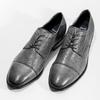 Kožené šedé pánske Derby poltopánky bata, šedá, 826-2782 - 16
