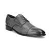 Kožené šedé pánske Derby poltopánky bata, šedá, 826-2782 - 13