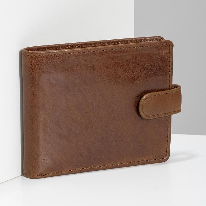 Pánska kožená hnedá peňaženka bata, hnedá, 944-3202 - 17