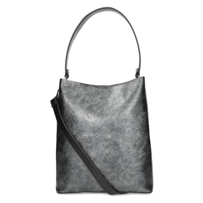 Čierna kabelka s odnímateľným popruhom bata, čierna, 961-2173 - 16