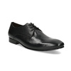Čierne kožené poltopánky v Derby strihu bata, čierna, 824-6606 - 13