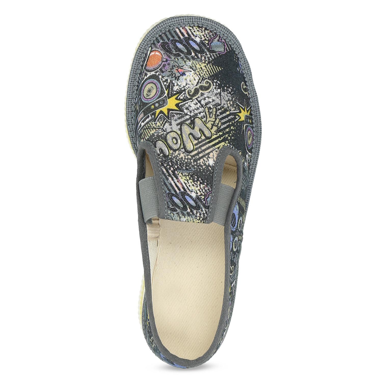 340db38ef97e Baťa Šedé detské prezuvky so vzorom - Všetky chlapčenské topánky ...