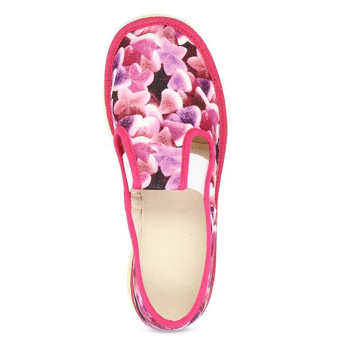 Ružové detské prezuvky so vzorom bata, ružová, 379-9123 - 17