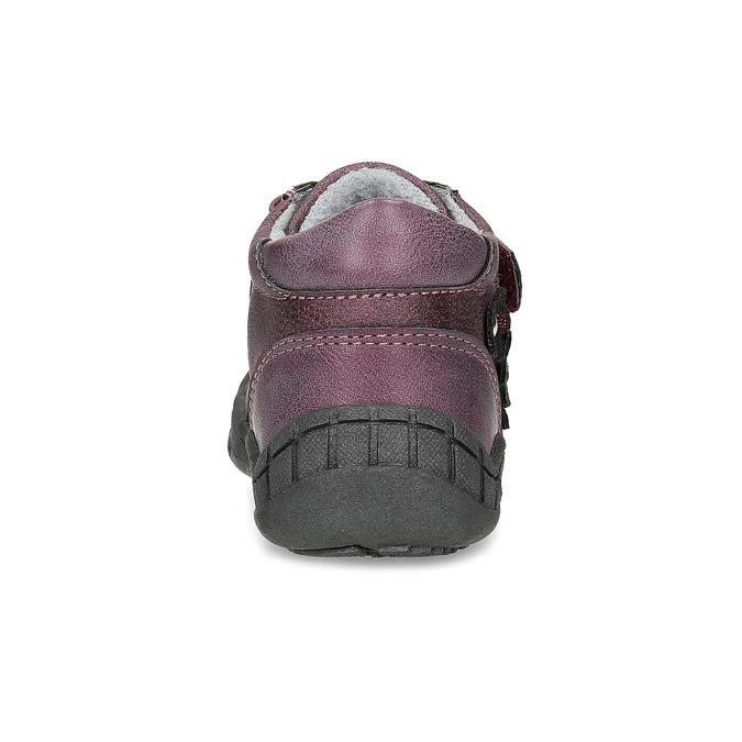 Fialové dievčenské topánky s kytičkami bubblegummers, fialová, 121-5622 - 15