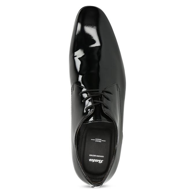 Pánske Derby poltopánky z lakovanej kože bata, čierna, 828-6606 - 17