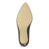 Zlaté kožené lodičky na ihličkovom podpätku insolia, zlatá, 726-8657 - 18