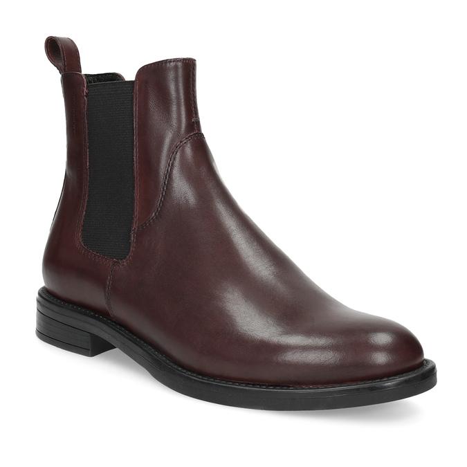Hnedá kožená dámska Chelsea obuv vagabond, hnedá, 516-4130 - 13