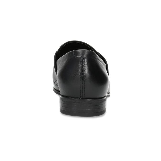 Dámske čierne kožené mokasíny vagabond, čierna, 514-6150 - 15